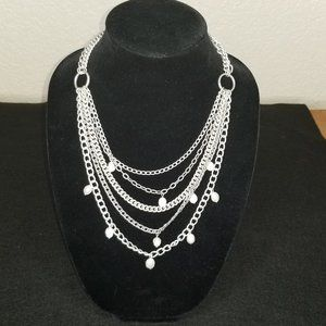 Stella & Dot Avery Chain & Pearl Necklace